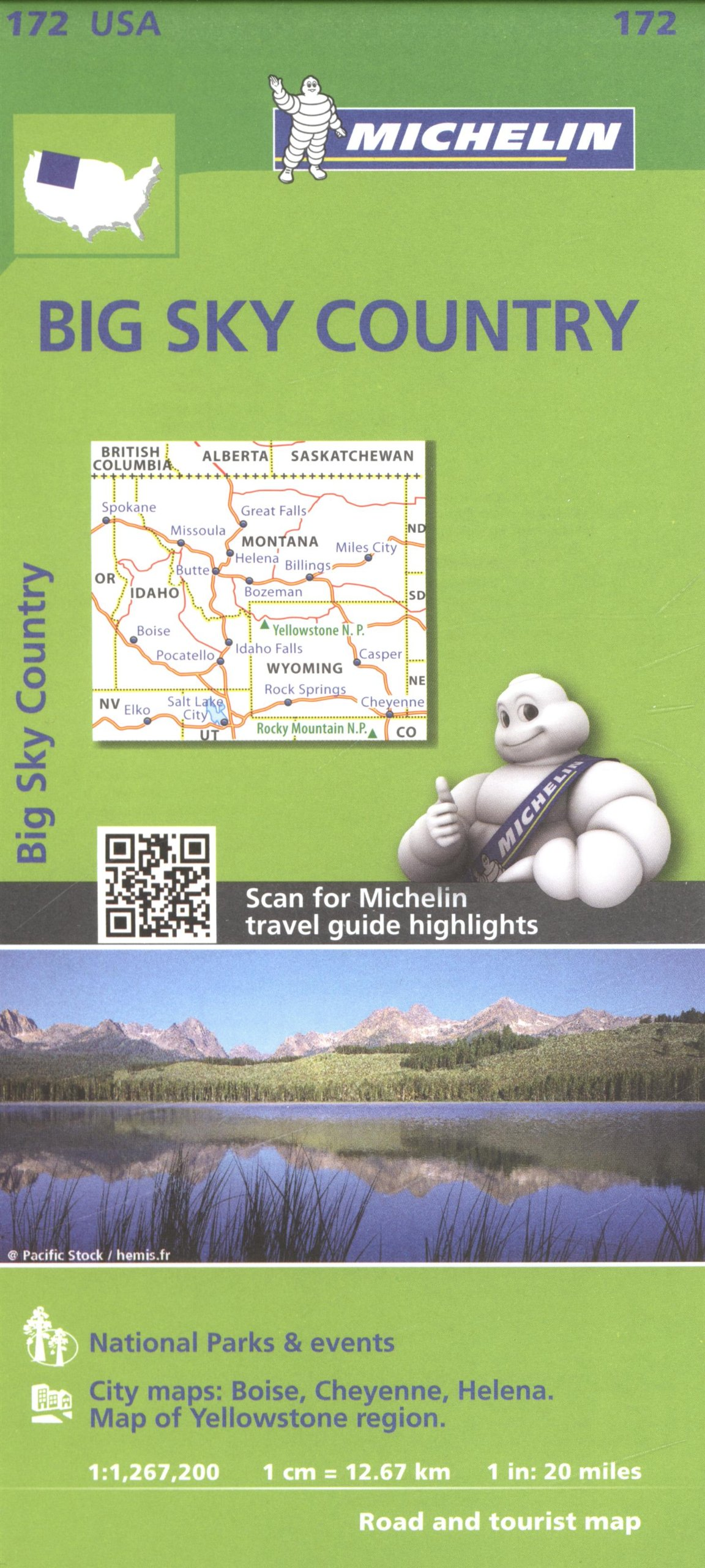 Big Sky Country : 1/1 267 000 (Anglais) Carte – 3 février 2016 Michelin Michelin Editions des Voyages 2067190814 Karten / Stadtpläne