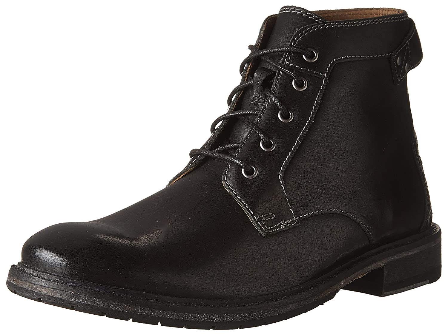 Black Leather Clarks Men's Clarkdale Bud Ankle Boots