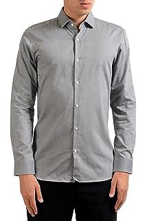 Hugo Boss EastonX Mens Slim Fit Long Sleeve Dress Shirt US 15 IT 38
