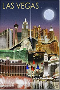 Las Vegas, Nevada - Las Vegas at Night (Premium 1000 Piece Jigsaw Puzzle for Adults, 20x30, Made in USA!)