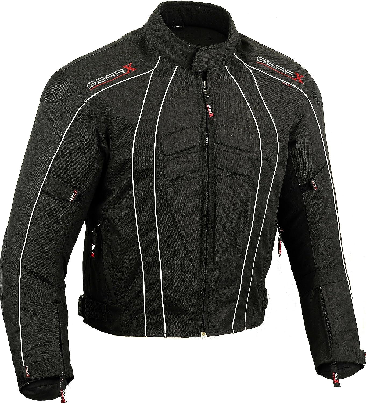 Dry-Lite Uomo Giacca da Moto Impermeabile Protezione Cappotto
