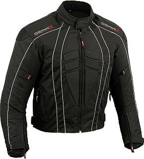 , Negro EU 48-50 JET Chaqueta Moto Hombre Verano Cuero Protecciones Perforada Malla Ventilaci/ón Extrema VARSITY M