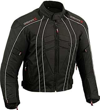 Amazon.com: GearX Dry-Lite Motorbike Jacket Waterproof ...