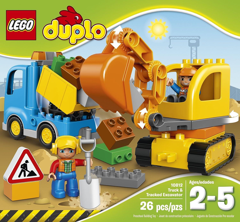amazon com lego duplo town truck u0026 tracked excavator 10812 best