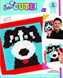 Colorbok Dog Learn To Sew Needlepoint Kit, 6-Inch by 6-Inch Red Frame
