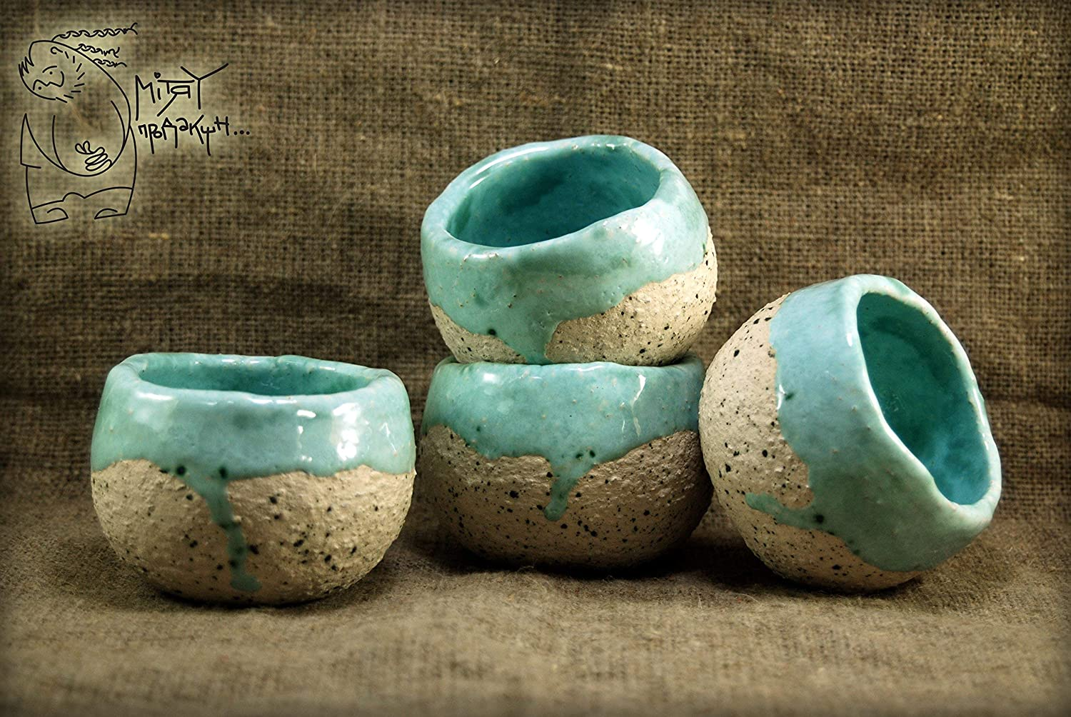 Small bowls for wine or tea 7 Oz Cereal ceramic pialat