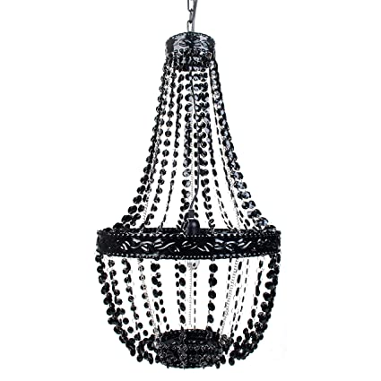 Amazon tadpoles beaded chandelier black onyx home kitchen tadpoles beaded chandelier black onyx aloadofball Gallery