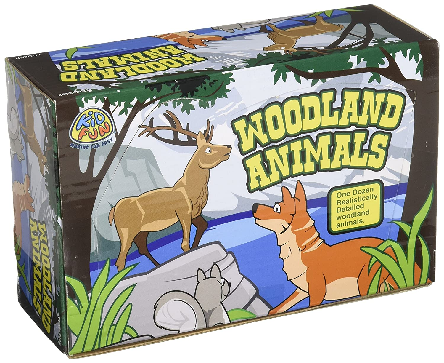 US Toy Woodland Forest Toy Animal Figures Action Figure (1 Dozen) Everready First Aid UST2482