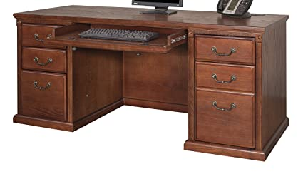 Amazon Com Martin Furniture Ho6891 B Kneehole Credenza Kitchen