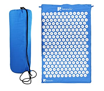 Amazon.com  Resveralife Acupressure Mat for Back and Neck Pain ... 8deffc2ce2a36