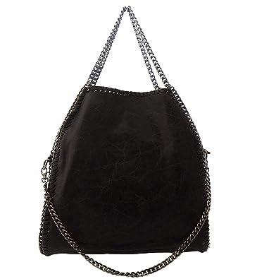 borsa nera con catena