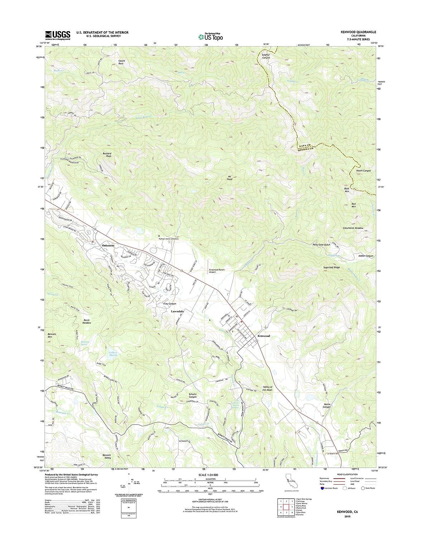 Amazon Com Topographic Map Poster Kenwood Ca Tnm Geopdf 7 5x7 5