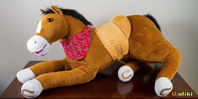 Amazon.com: Childrenu0027s Chair Pillow Pet Couch (Large Oversized Stuffed Plush  Horse Huge Animal): Toys U0026 Games
