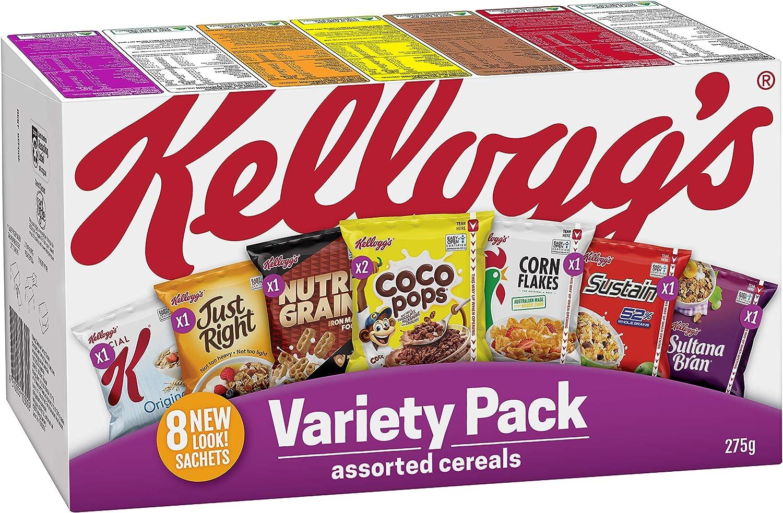 Kelloggs Variedad Pack de 8 275gm: Amazon.es: Alimentación y bebidas