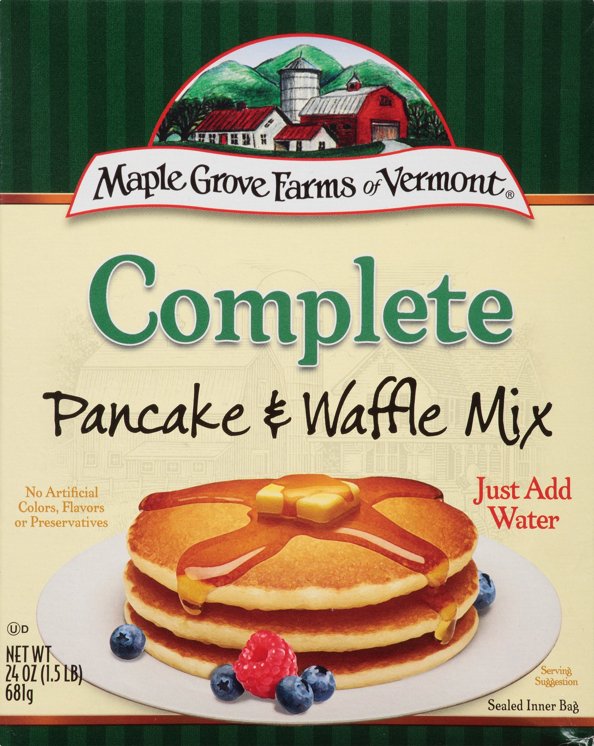 Maple Grove Farms Pancake & Waffle Mix, Complete, 24 Ounce