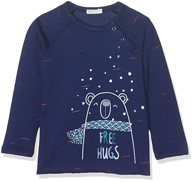 United Colors of Benetton T-Shirt Long Sleeve, Camiseta Bebé-para Niños: Amazon.es: Ropa y accesorios