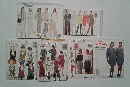 Amazon com: Vogue Butterick Mc Call's Sewing Patterns Bundle