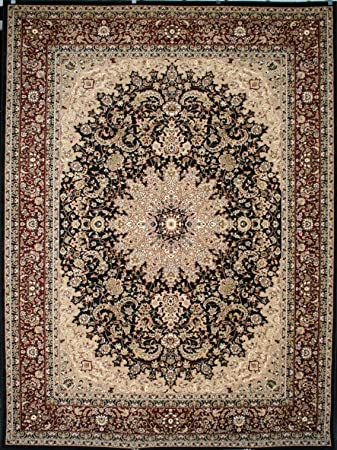 Amazon Com Feraghan New City Traditional Isfahan Wool Persian Area