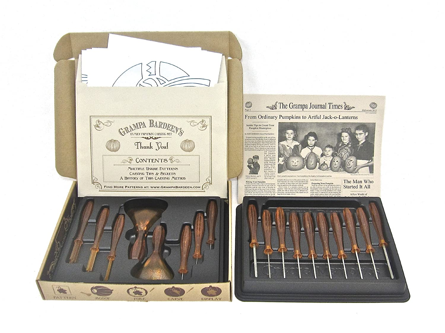 Grampa Bardeen's Family Pumpkin Carving Set