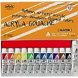 """Holbein Acryla Gouache Colors set """"HACHI"""" 8ml × 12 colors D402"""