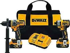 DEWALT FLEXVOLT ADVANTAGE 20V MAX Combo Kit with Hammer Drill & Impact Driver, 5.0-Ah, 2-Tool (DCK2100P2)