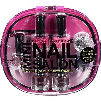 Amazon.com: The Color Workshop Mini Nail Salon Care Kit, Pink, 7 pc ...