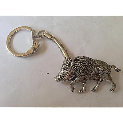 A71 sanglier fines 4 en étain anglais fait à la main sur un porte-clés en forme prideindetails de serpent avec emballage cadeau fait à la main à sheffield