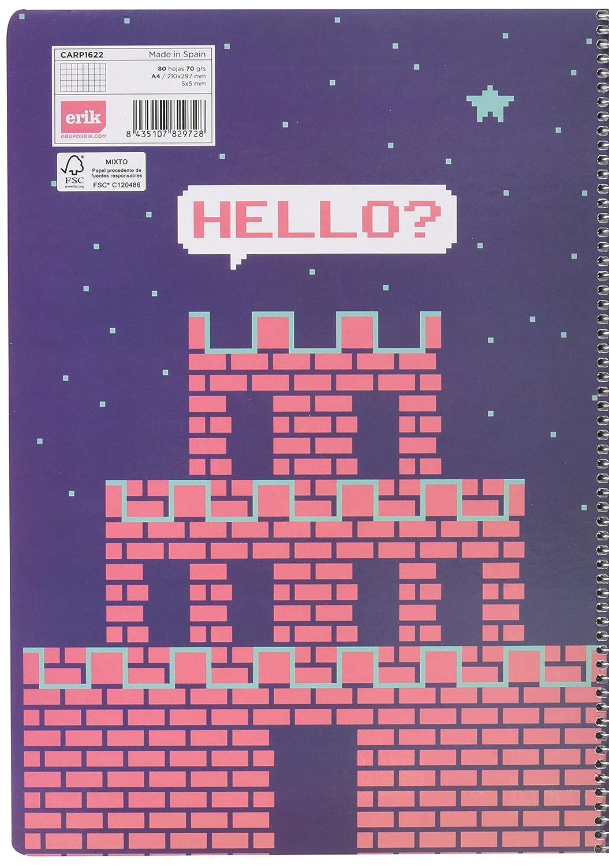 Cuaderno Tapa Dura A4 5X5 Amelie Rosa//Azul Grupo Erik Editores