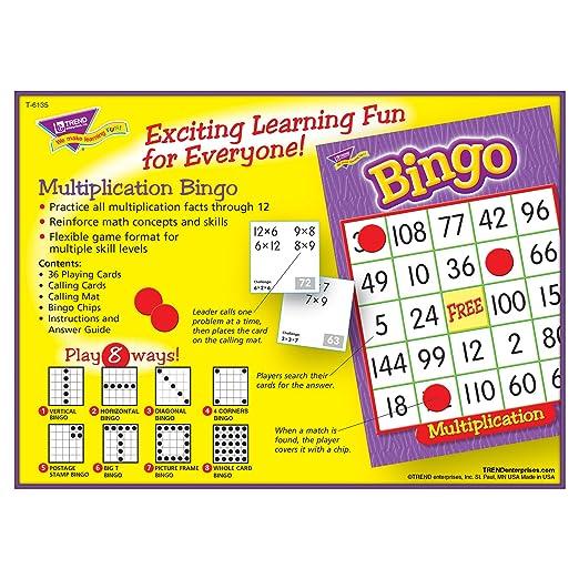 Amazon.com : Multiplication Bingo Game : Toys & Games