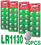 Beidongli AG10 LR1130, LR54, LR54, AG10 Battery 1.5V Button Coin Cell Batteries New 40 Pack 【5-Year Warranty】
