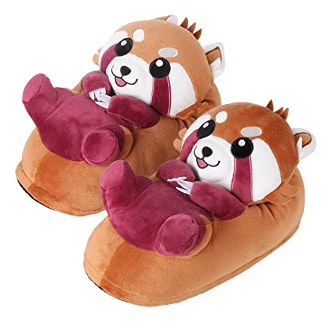 corimori Ponva el Panda Rojo Zapatillas De Casa Niños Talla Única 25-33,5