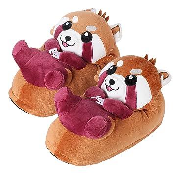 """Corimori"""" Ponva El Panda Rojo Zapatillas Casa Niños Color marrón, Talla Única 25-"""