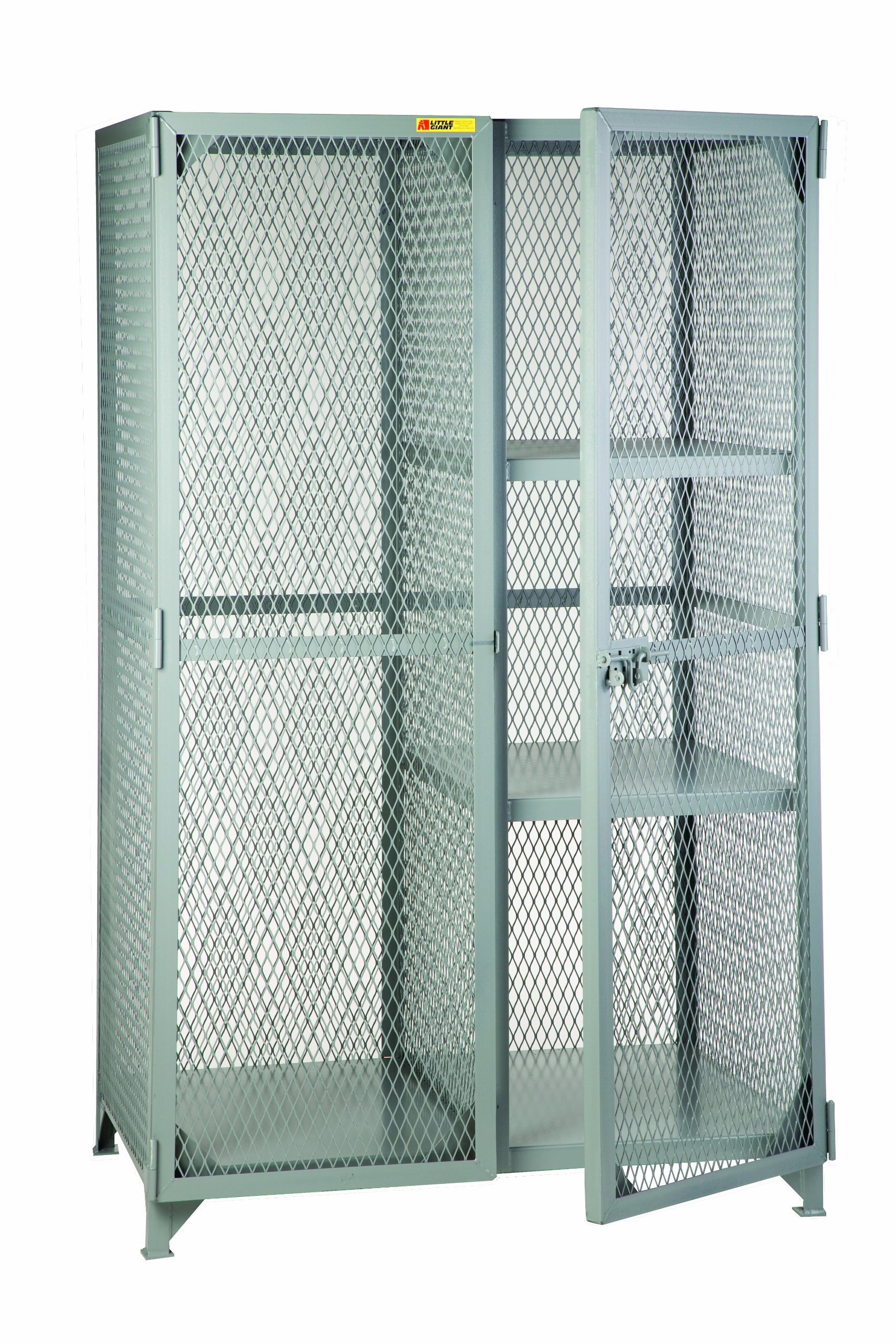 Little Giant SLC-2-2460 Combination Cabinet with 2 Half Shelves, 60'' Length x 24'' Width x 78'' Height