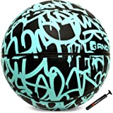 """AND1 Fantom Rubber Basketball & Pump (Graffiti Series)- Official Size 7 (29.5"""") Streetball, Made for Indoor and Outdoor Baske"""