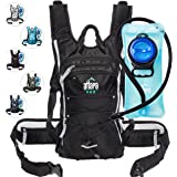Atlapa Sports Lightweight Hydration Backpack 2L TPU Leak Proof Water Bladder Insulated Pocket Cold Storage Padded Shoulder Adjustable Straps Daypack Hiking Skiing Running Cycling