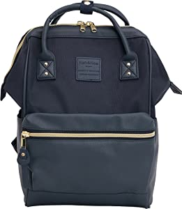 Kah&Kee Small Backpack Purse Unisex Bookbag Teacher Bag Stylish School Travel Perfect Commuting Backpack (Navy)