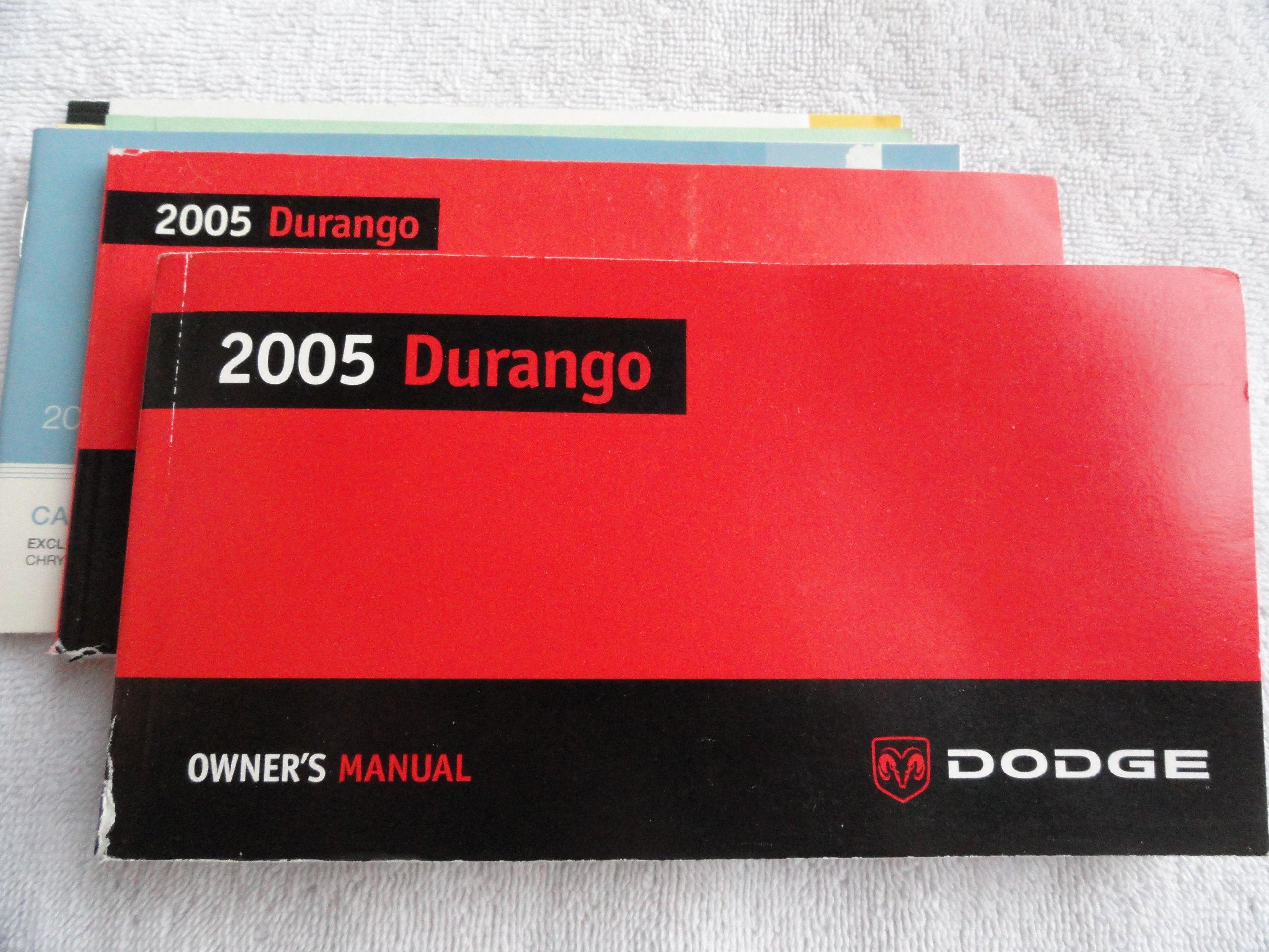 2005 dodge durango factory owners manual booklet glove box mopar.