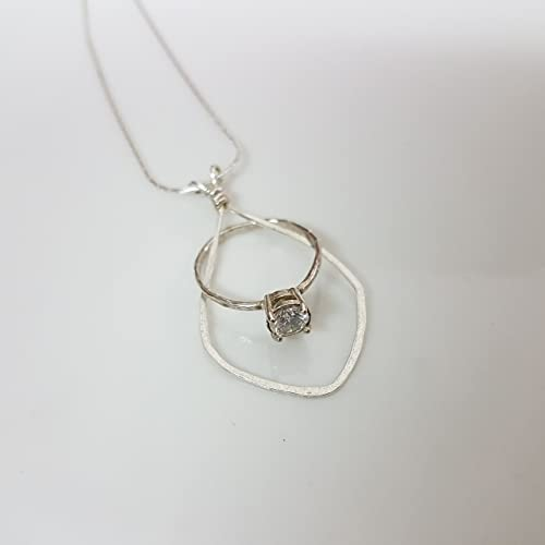 wedding ring holder necklace in sterling silver 165 18 - Wedding Ring Necklace