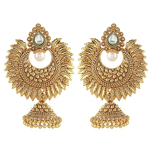 5c04120efd7e27 Amazon.com: Crunchy Fashion Bollywood Style Party Wear Traditional Indian  Jewelry Jhumka Earrings for Women: Jewelry
