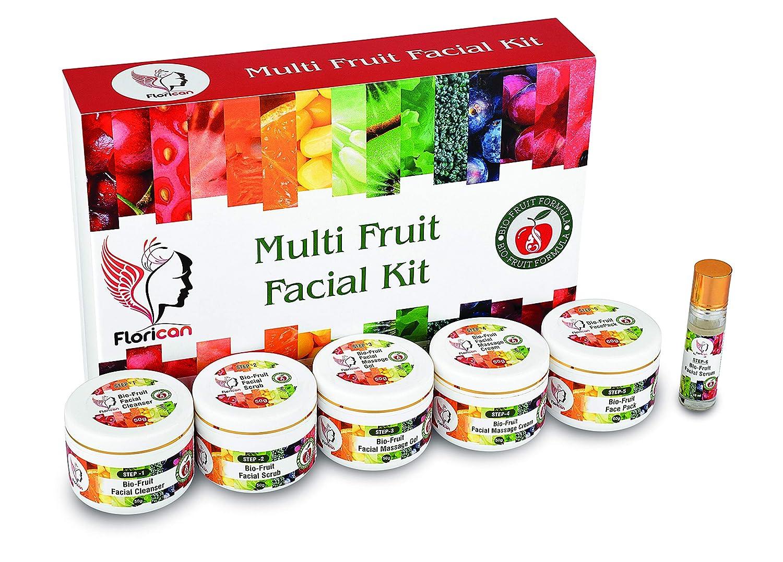 Florican Multi Fruit Facial Kit Organic  – Best Fruit Facial kit for dry skin