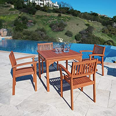 VIFAH Ibiza Outdoor Wood Stacking Table