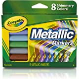 Crayola, Metallic Markers, 8 Steely Metallic Colours, Great for Card Making, Scrapbooking, Calligraphy, Christmas Craft, Classroom, School Projects