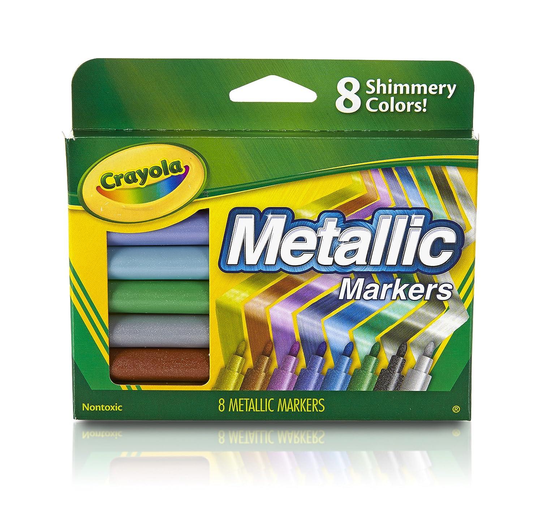 Crayola Metallic Markers, 8 Count Essendant B2B 588628
