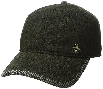24f24106 Amazon.com: Original Penguin Men's Woolen Baseball Cap, Dusty Olive, One  Size: Clothing