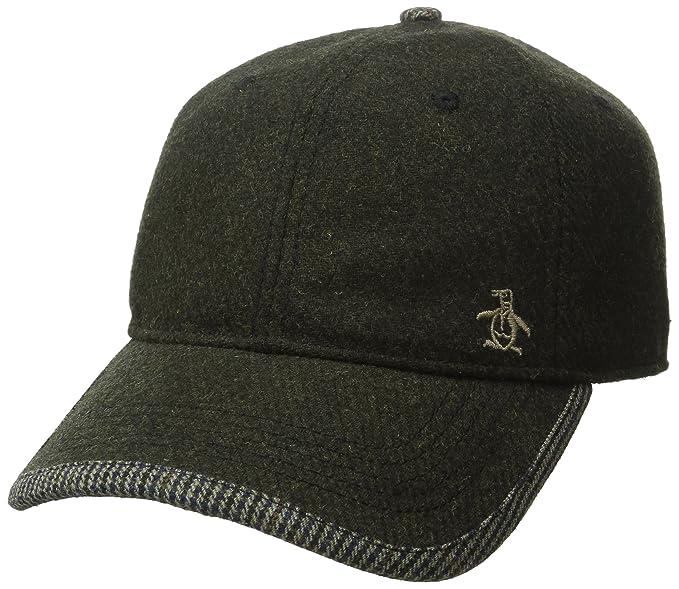 18e766e063e52 Amazon.com: Original Penguin Men's Woolen Baseball Cap, Dusty Olive ...