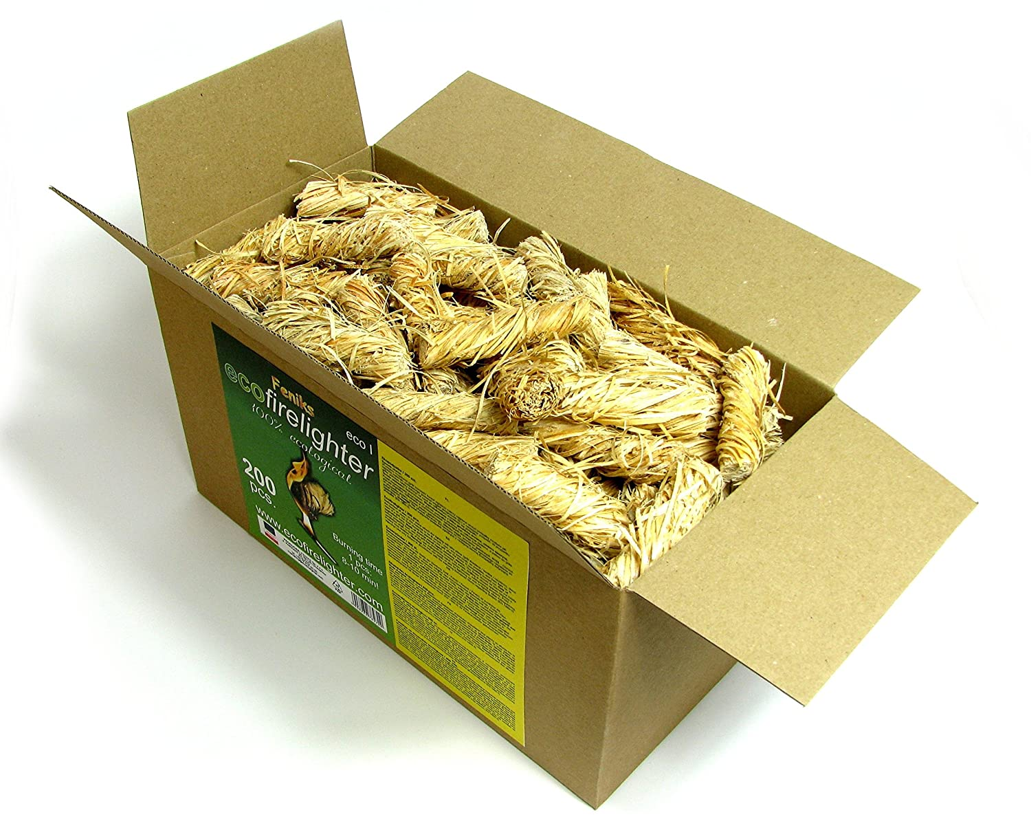 ECO Firelighters 200pcs. in the box, For Fireplace, Stoves, Barbecues...