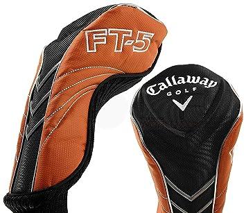 Callaway golf ft-5 driver headcover black silver & orange.