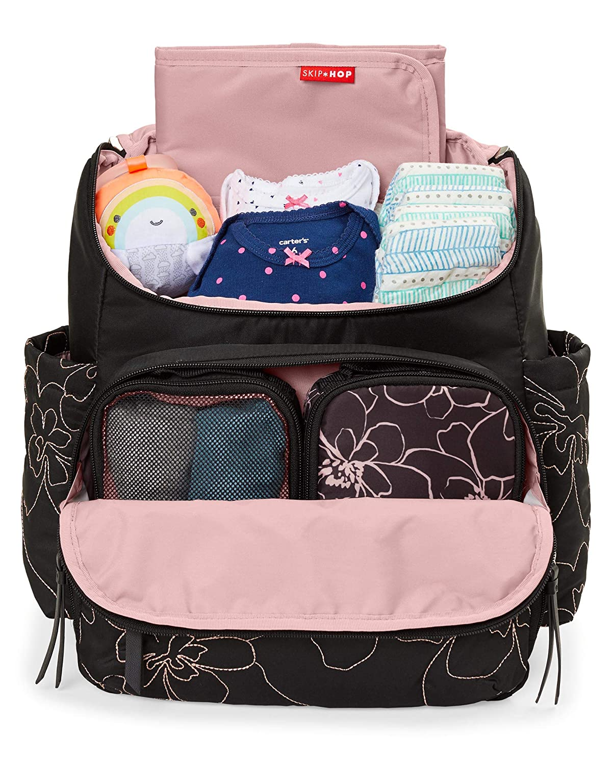 Skip Hop Diaper Bag Backpack Forma Multi-Function Baby Travel Bag with Changing Pad Grey