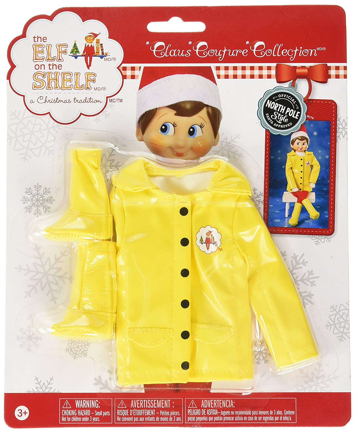 Elf on The Shelf Claus Couture Caroling in The Raincoat The Elf on the Shelf CCRAINJKT
