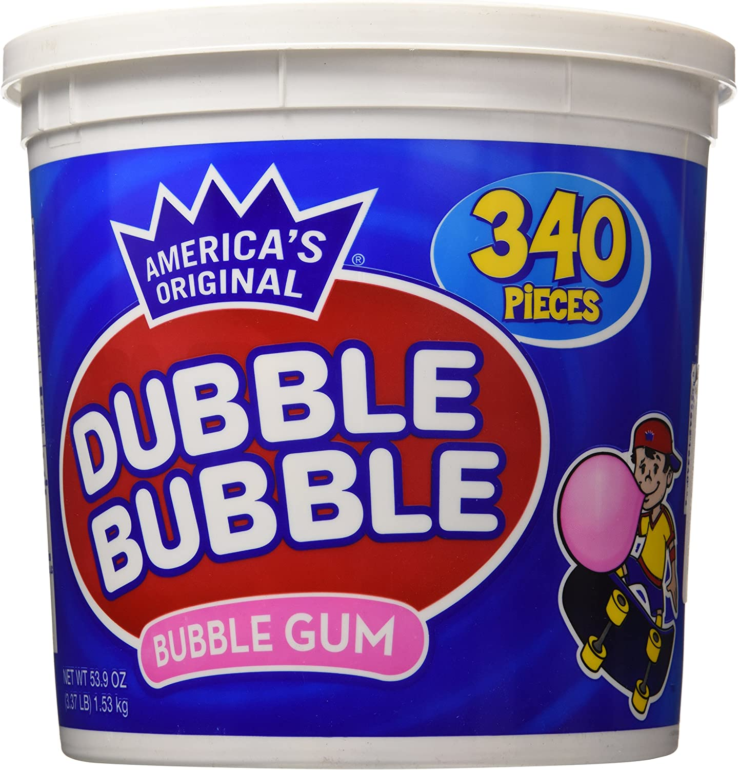 Dubble Bubble Gum, 53.9 Ounce - 340 Count Bucket